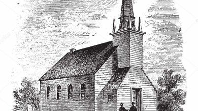 old church illustration