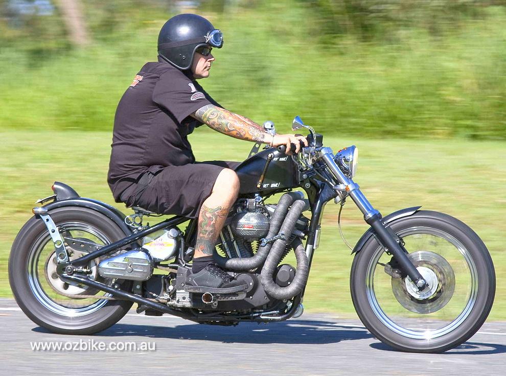Hard tail Sportster bobber